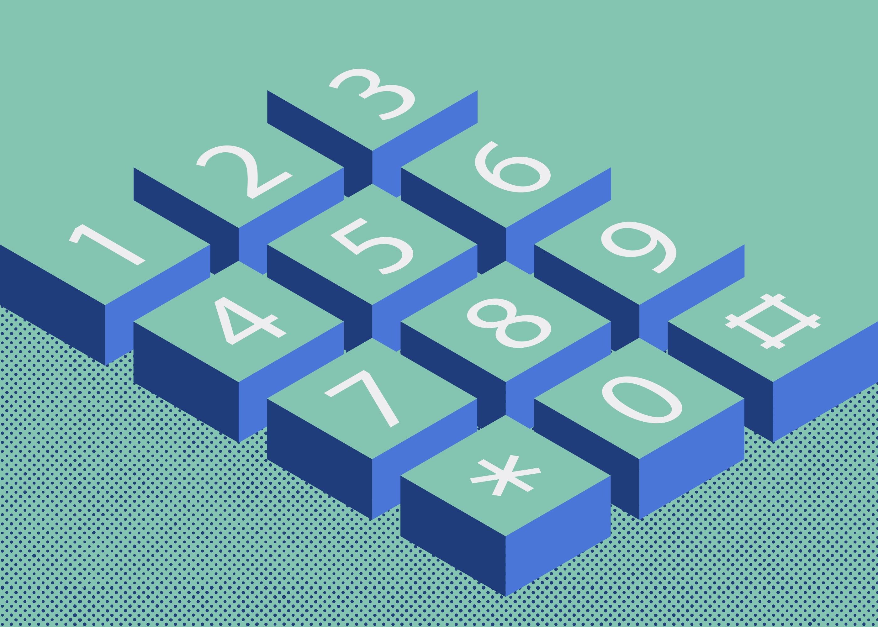 illustrated phone keypad