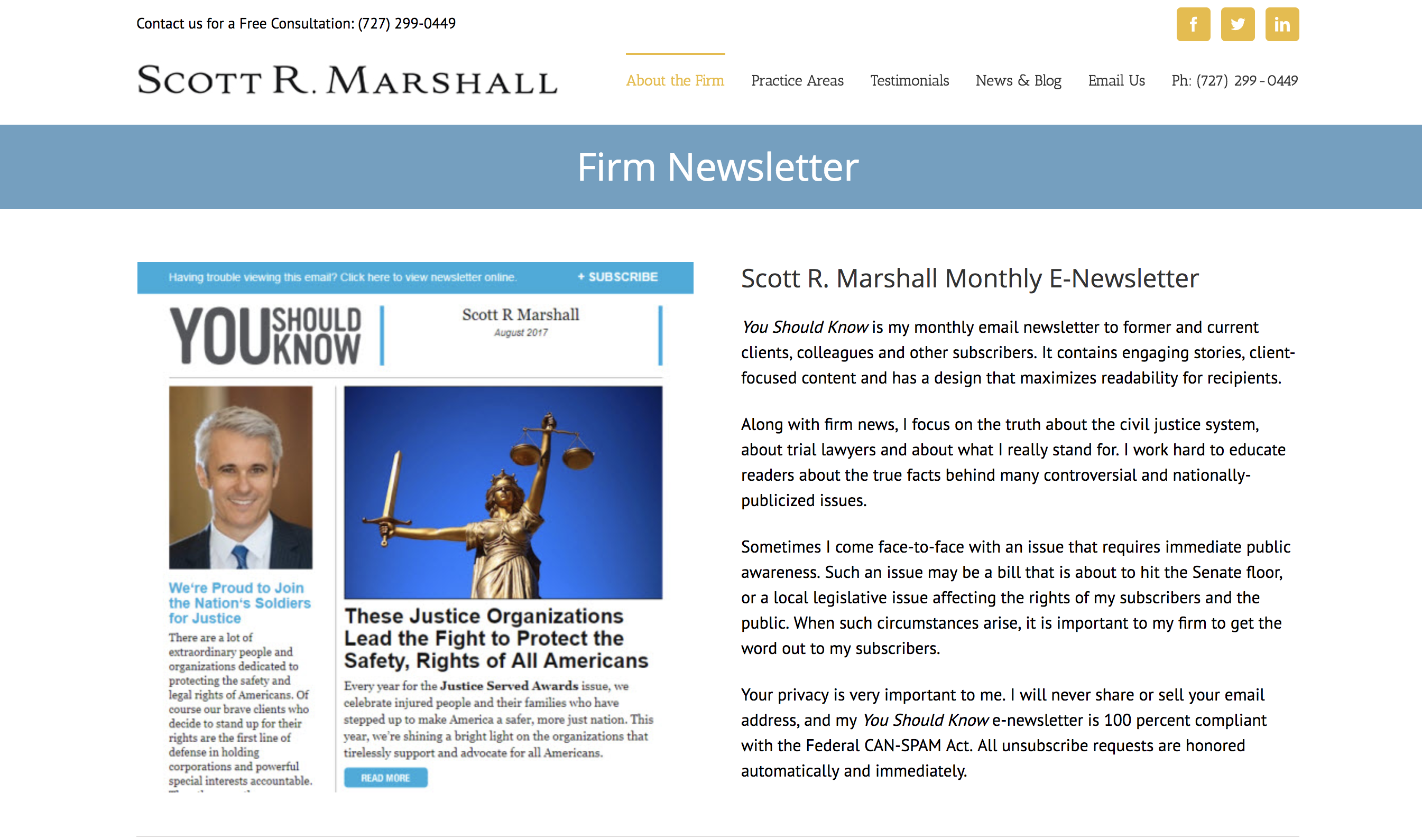 Example of law firm news letter