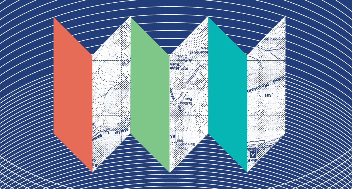 illustrated folded map to symbolize the customer journey