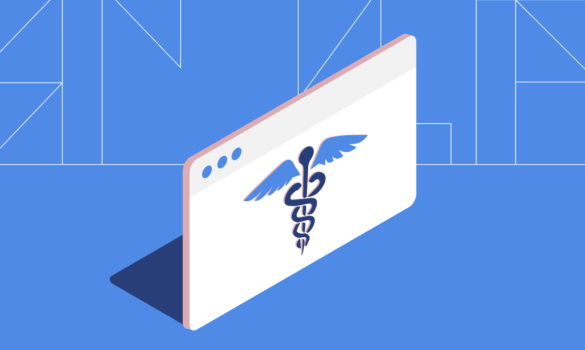 Illustrated American Medical Association Symbol of Caduceus