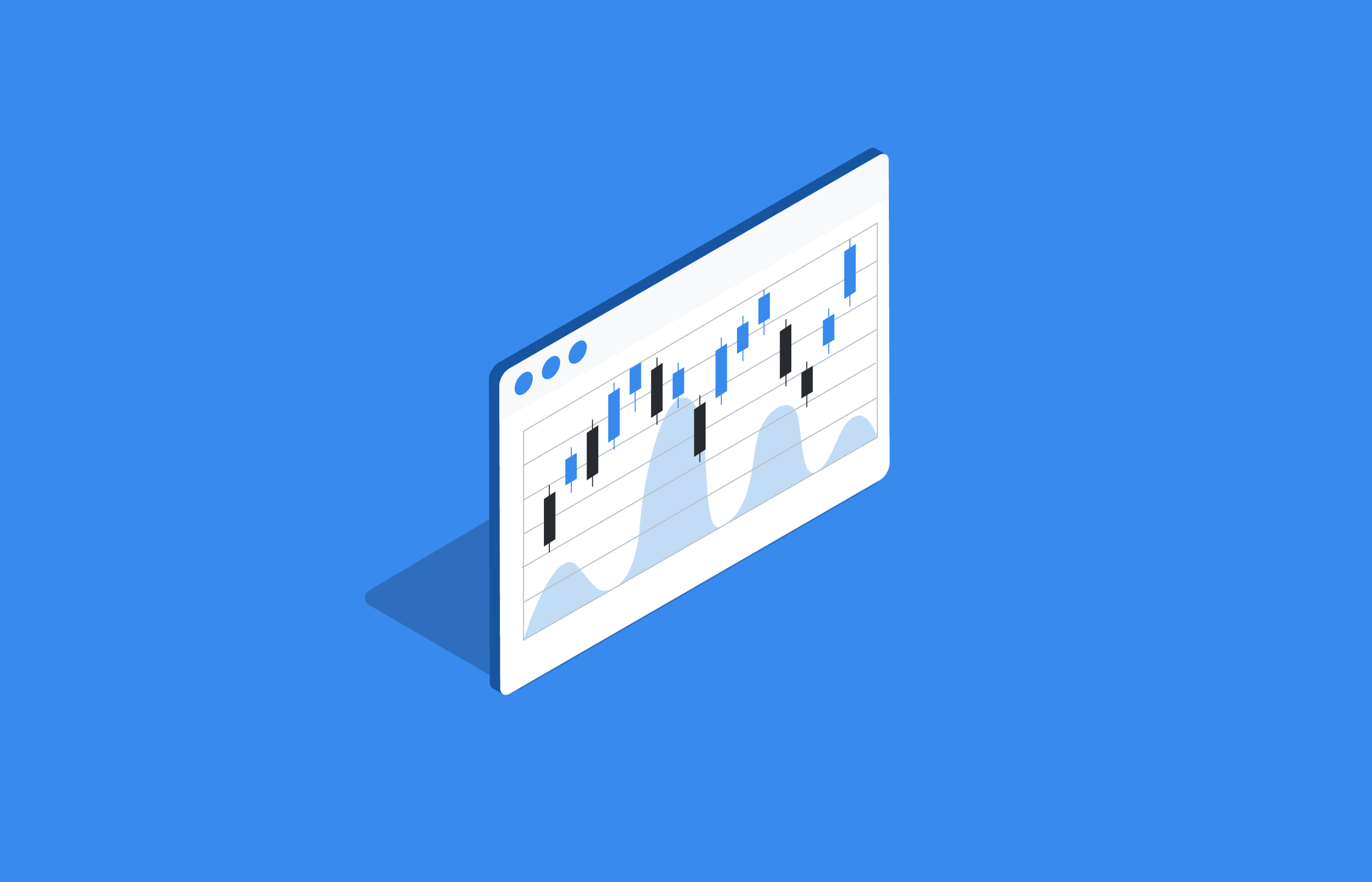 illustrated financial chart