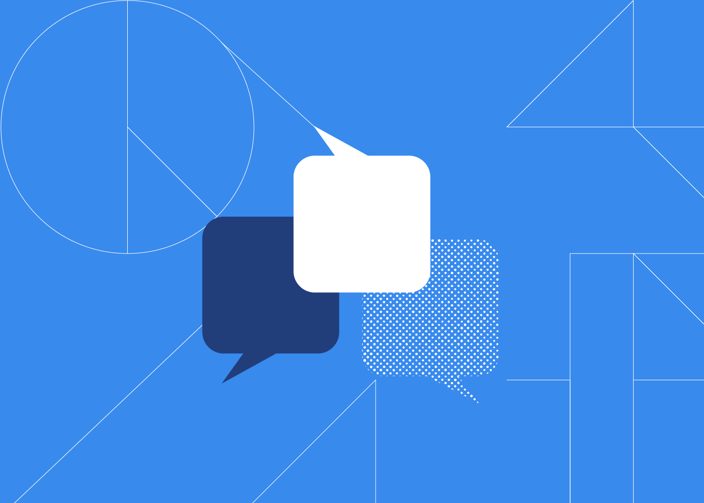 Illustrated chat bubbles