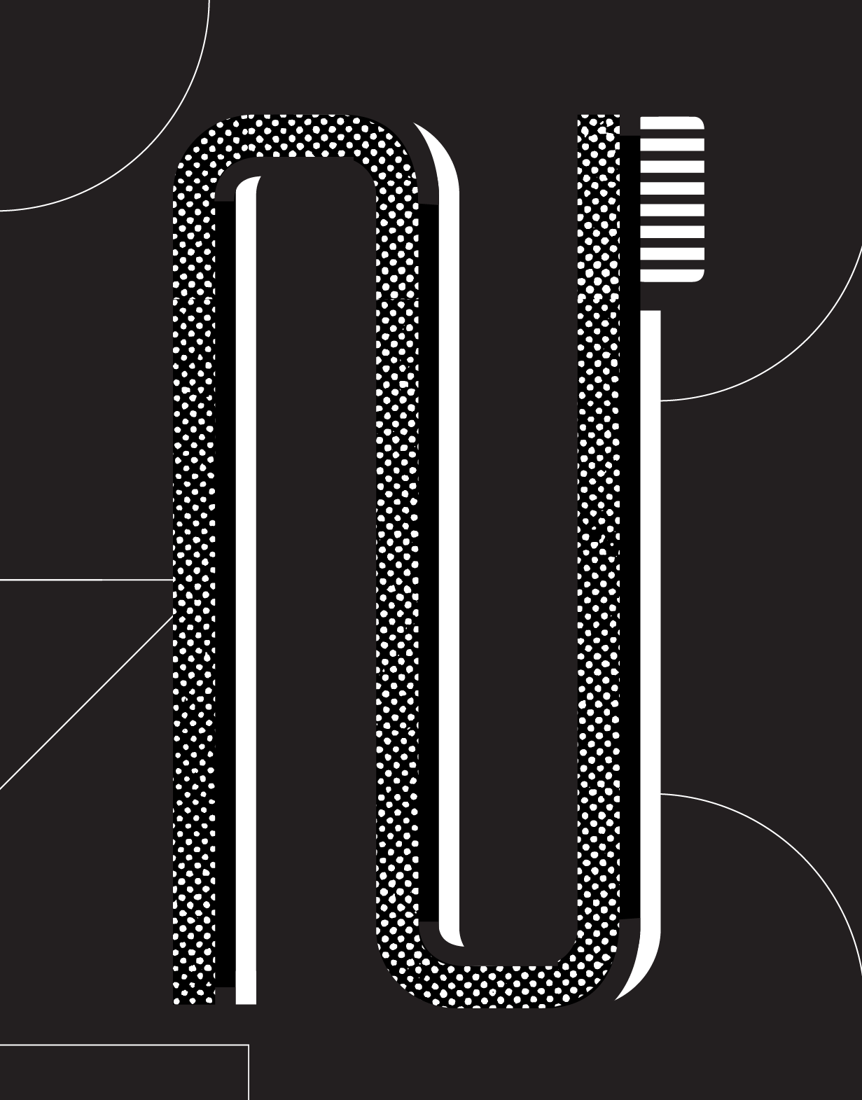 Illustrated toothbrush