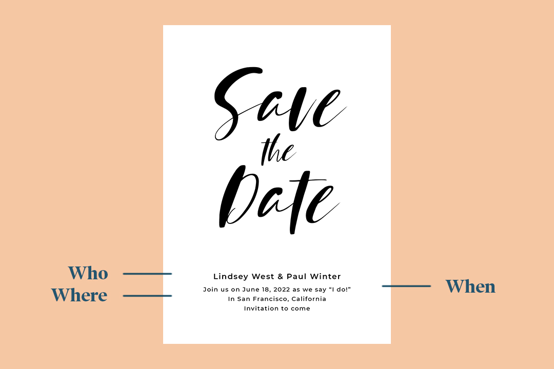 wedding save the date by zola
