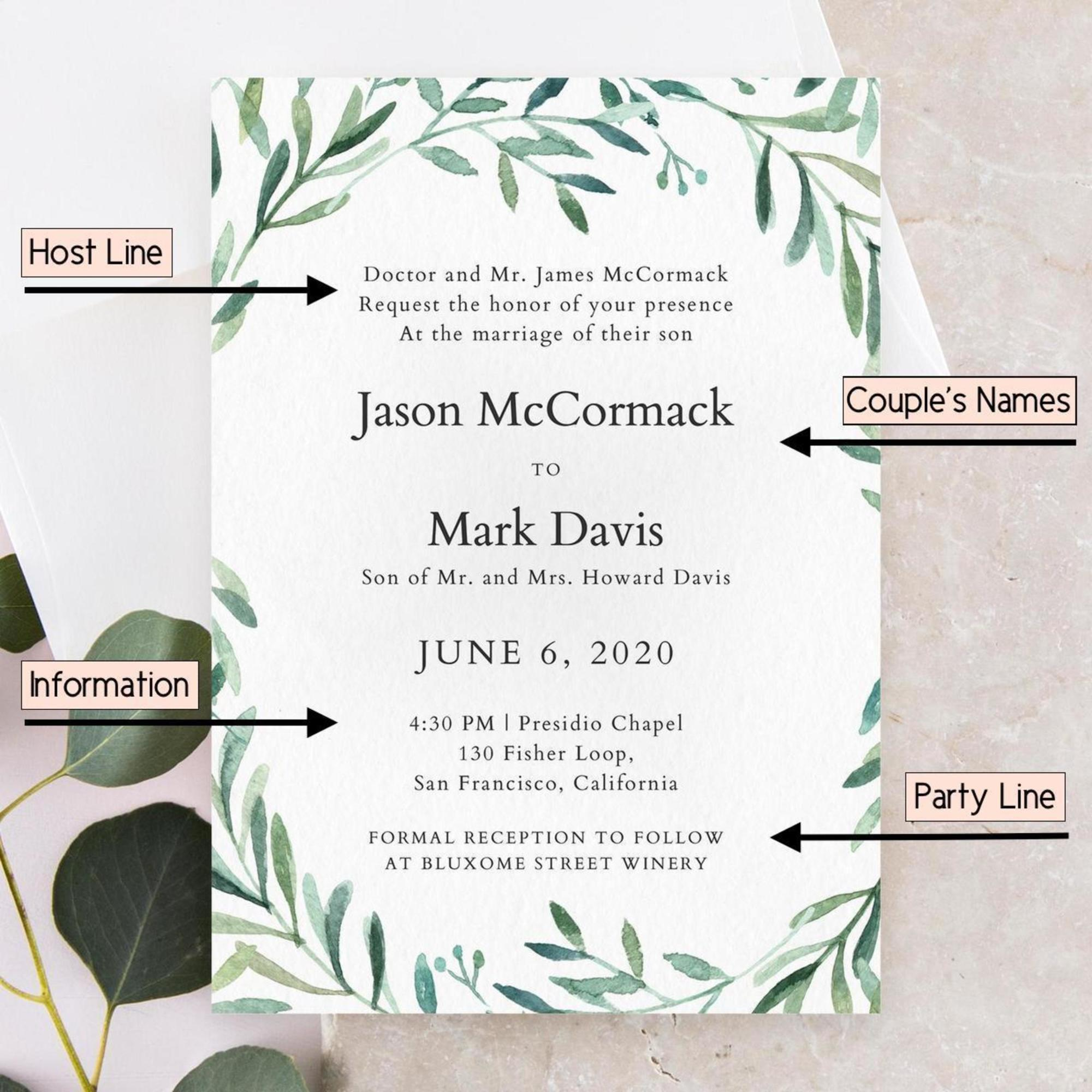 Wedding Invitation In English Wordings: How To Word Wedding Invitations