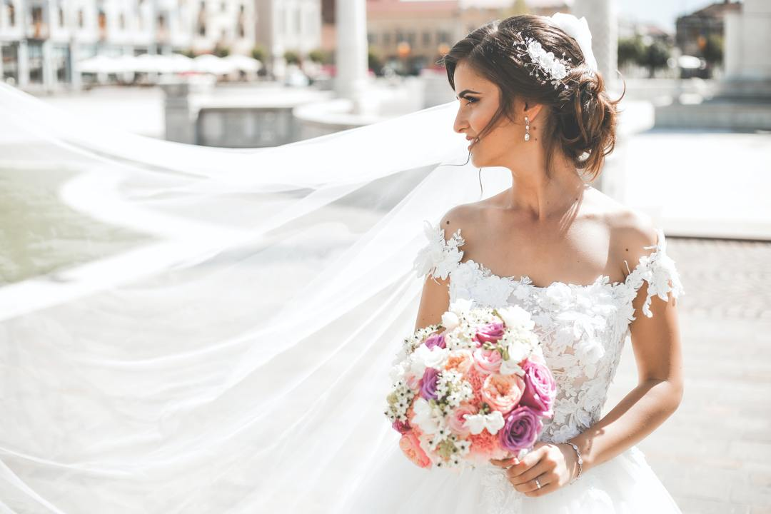 Bridal Makeup Trends - bride in the wind