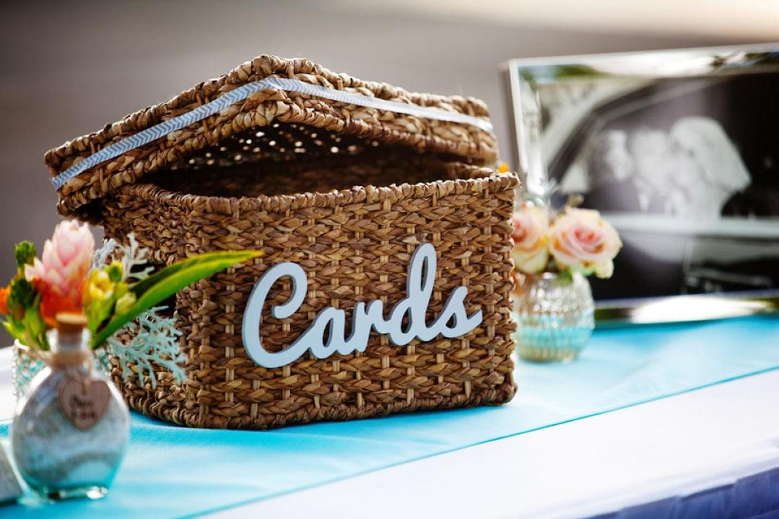 wicker wedding card box