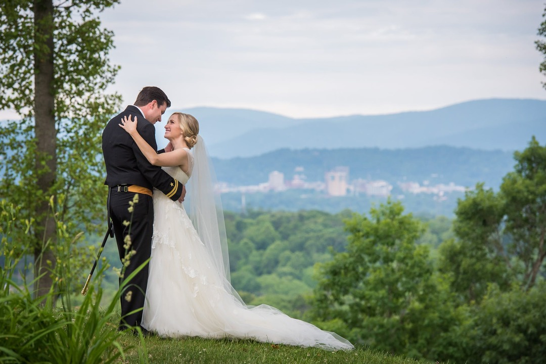 married couple on mountain