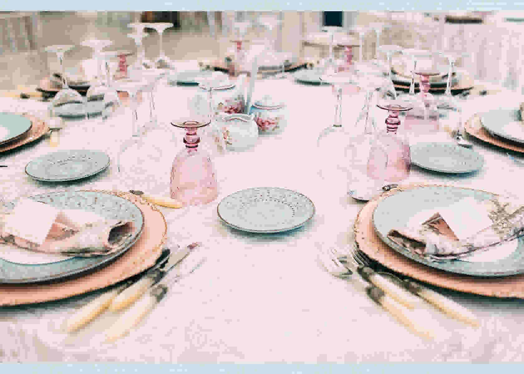 Wedding brunch tablescape