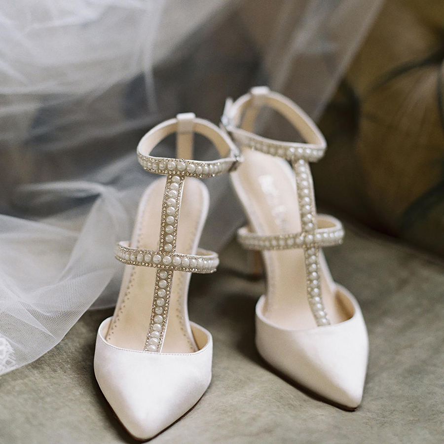 bellabelleshoes carolina crystals and pearl wedding heels