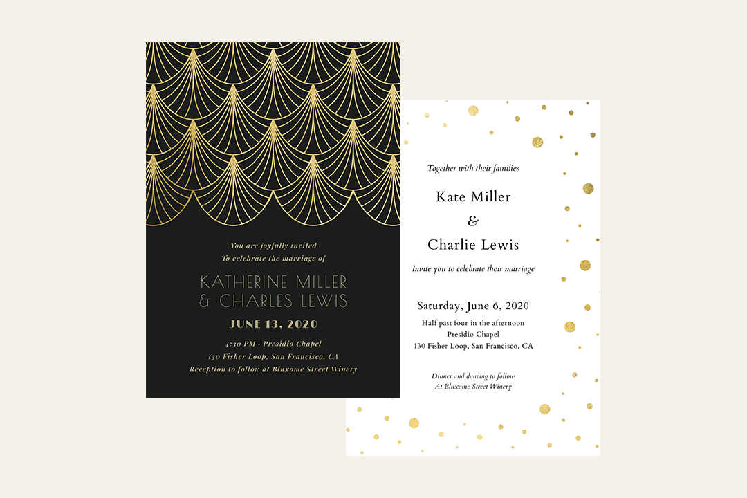 New Year's Eve Wedding Invitations