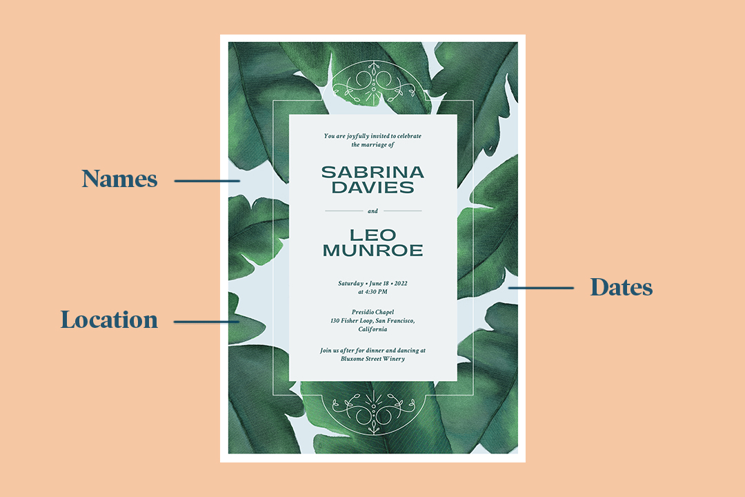 The Dos And Don Ts Of Wedding Invitation Wording Zola Expert Wedding Advice
