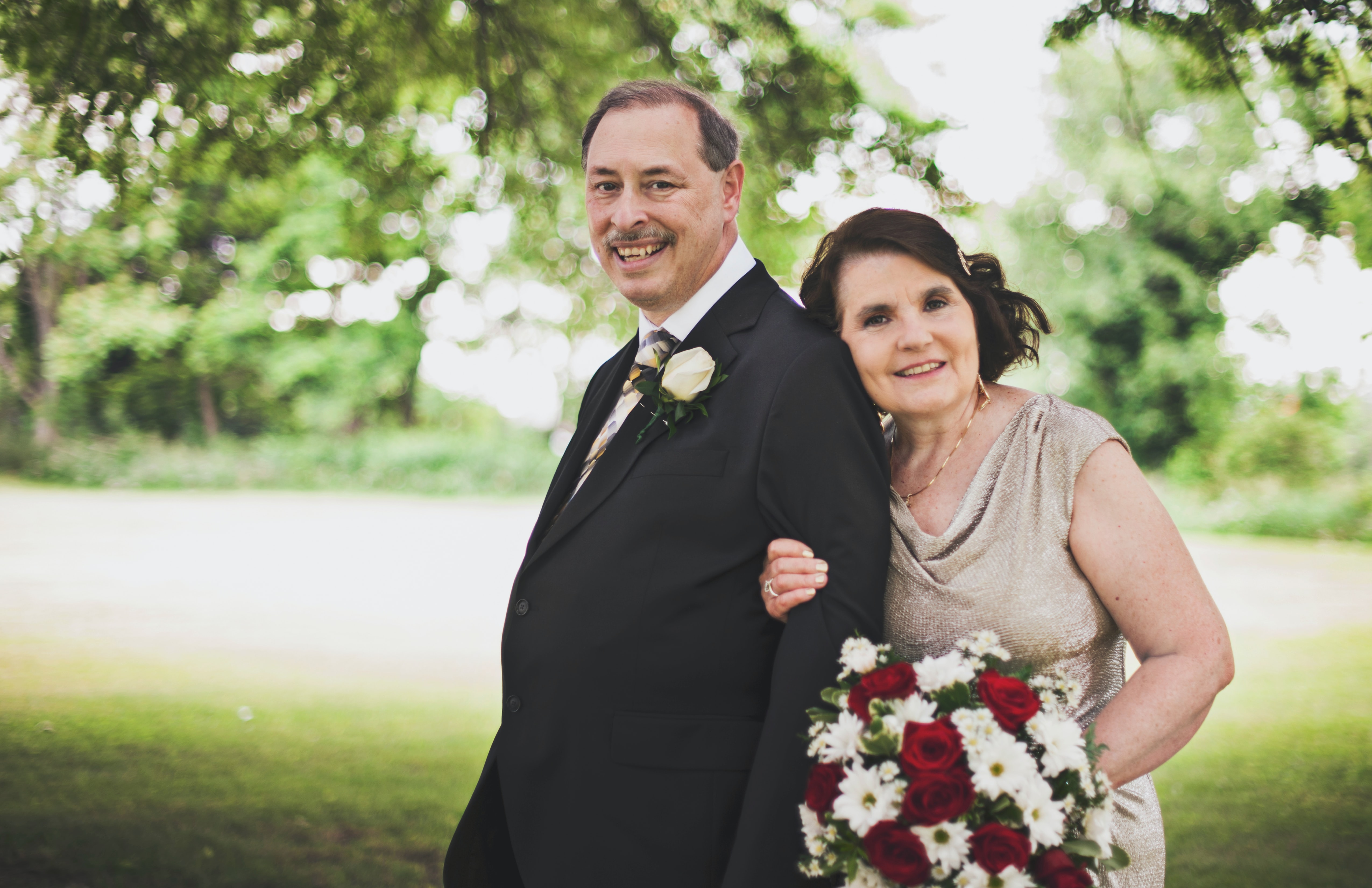 older couple vow renewal