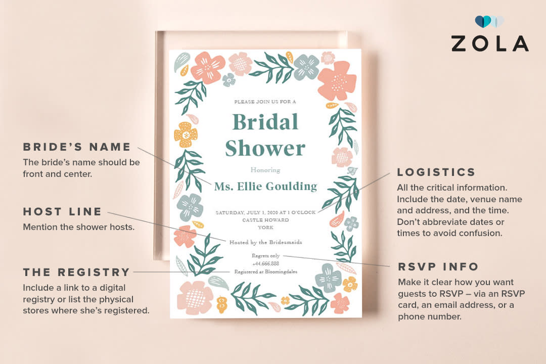How To Word Bridal Shower Invitations Zola Expert Wedding