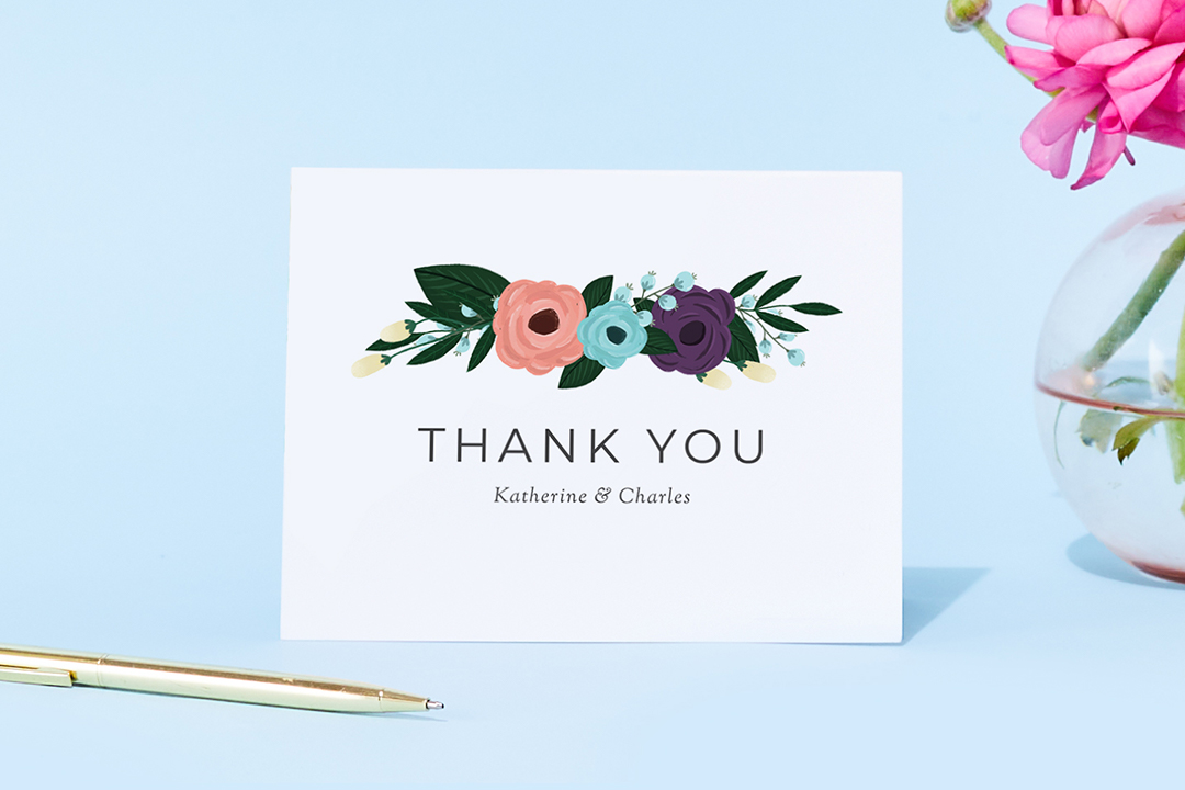 Zola wedding thank you cards