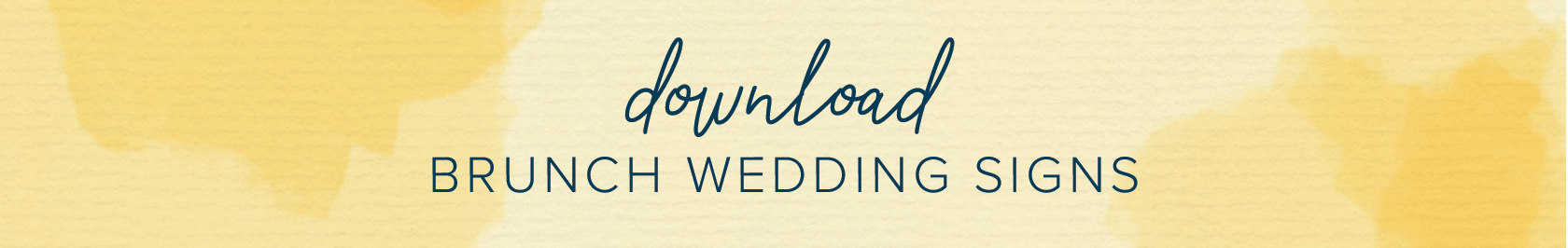 download brunch wedding signs