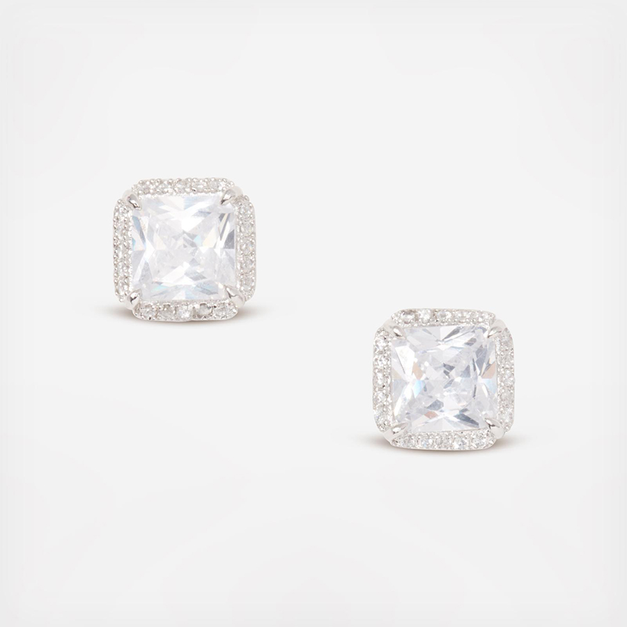 katespadejewelry save the date pave princess cut studs silver