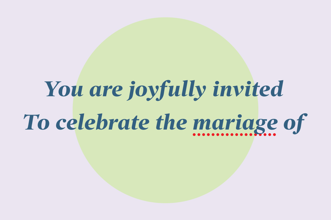 What To Do About A Typo On Your Wedding Invitations Zola Expert Wedding Advice