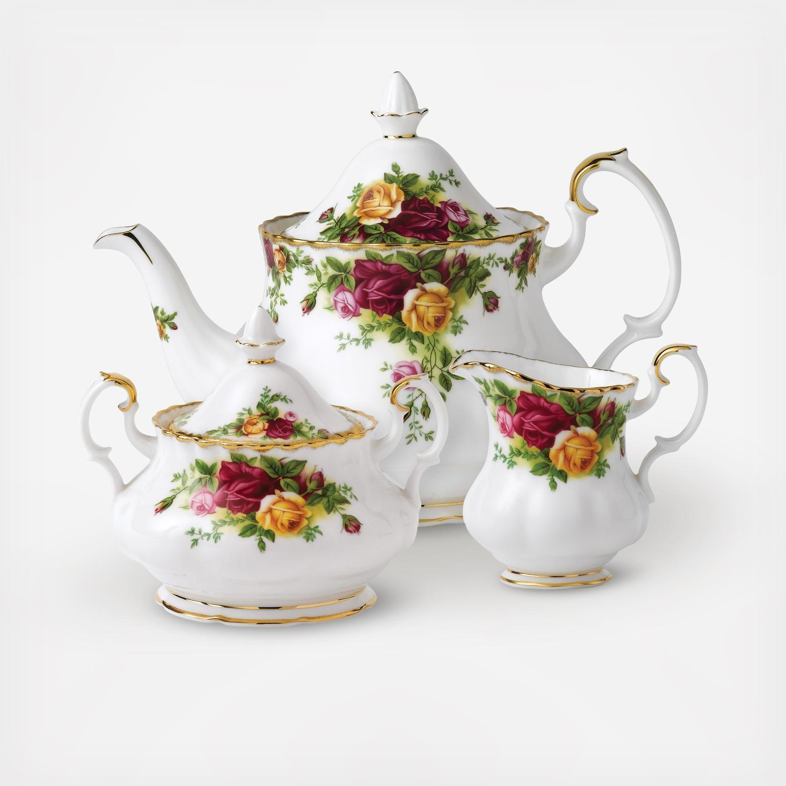 beautiful white Royal Tea set