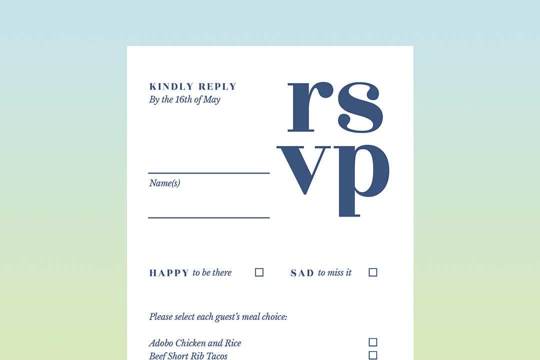 A Guide To Wedding Invitation Rsvp Cards Zola Expert Wedding Advice