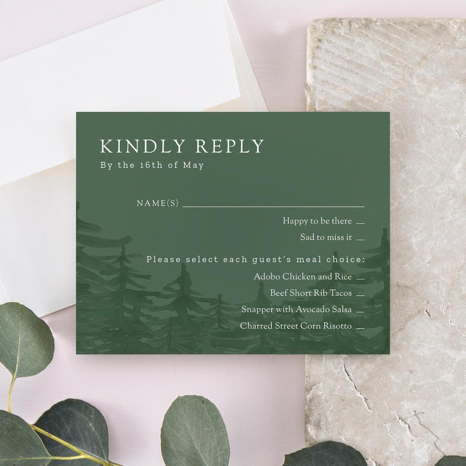 A Guide To Wedding Invitation Rsvp Cards Zola Expert Wedding Advice