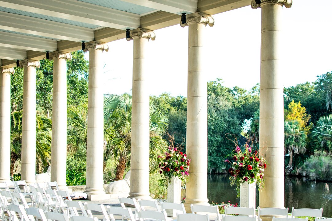 Wedding venue pillars