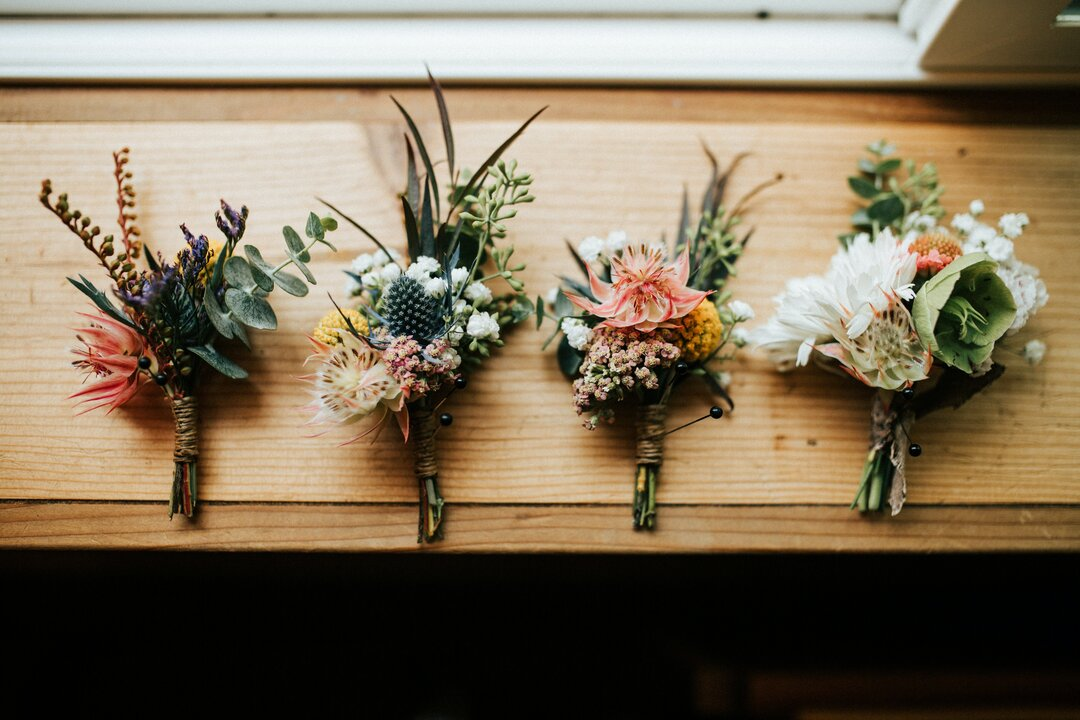 How to Recycle Wedding Decor rustic bouquets