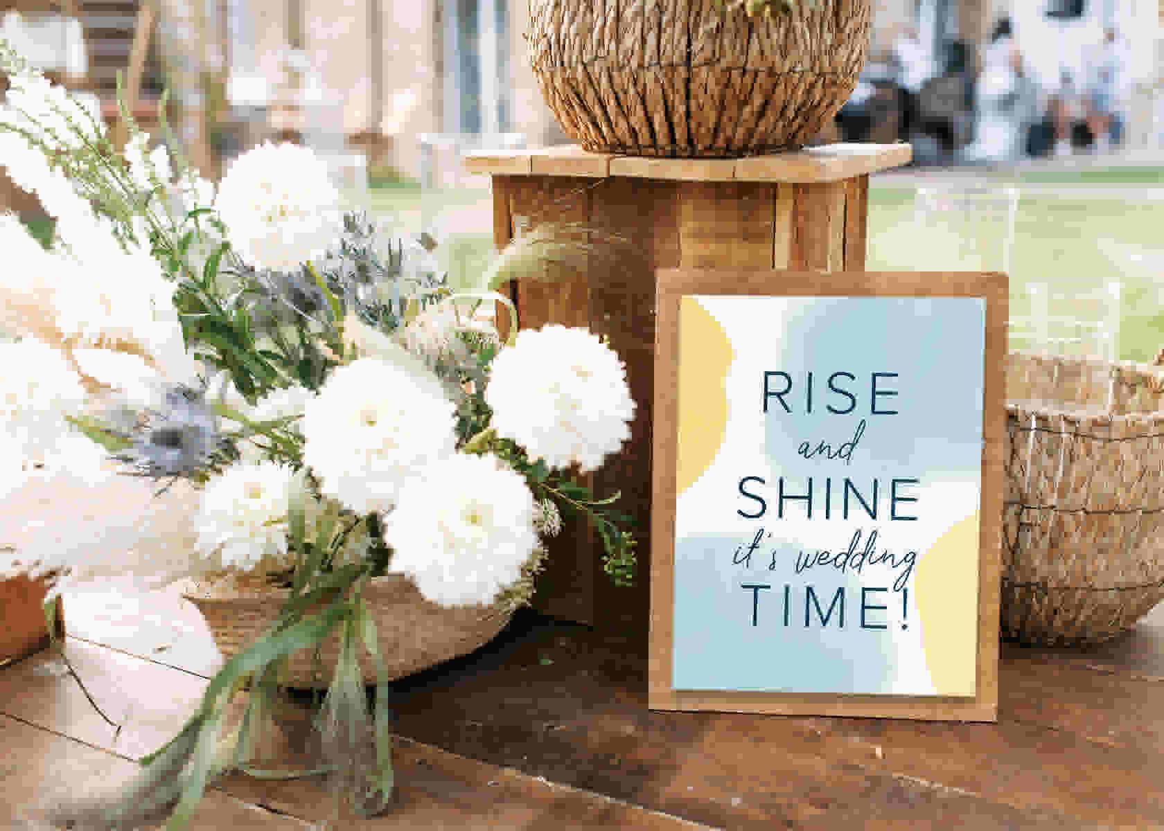 Brunch wedding free printable signs