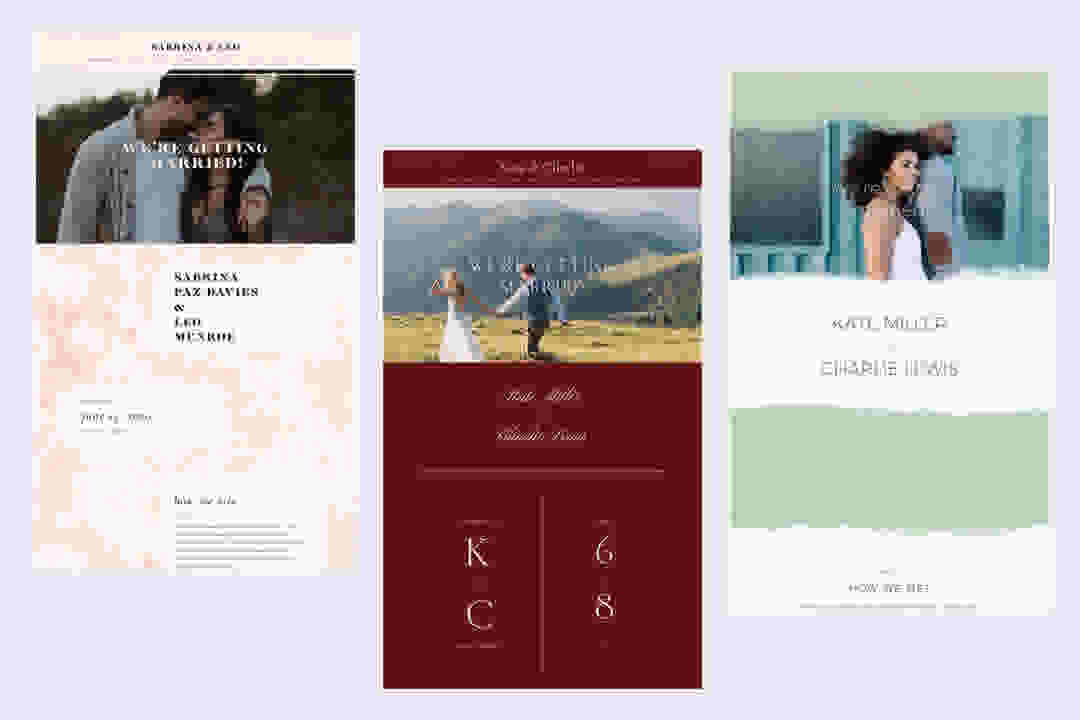 Wedding Website Design Idea