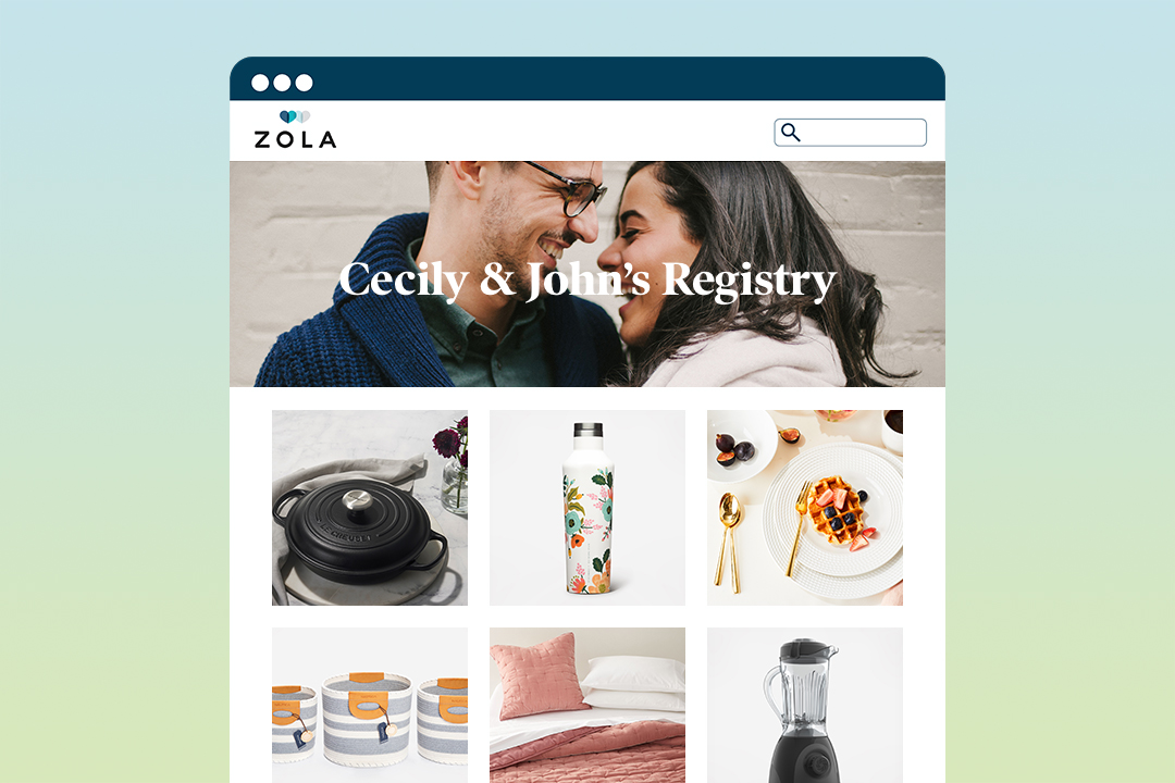 zola wedding registry tips