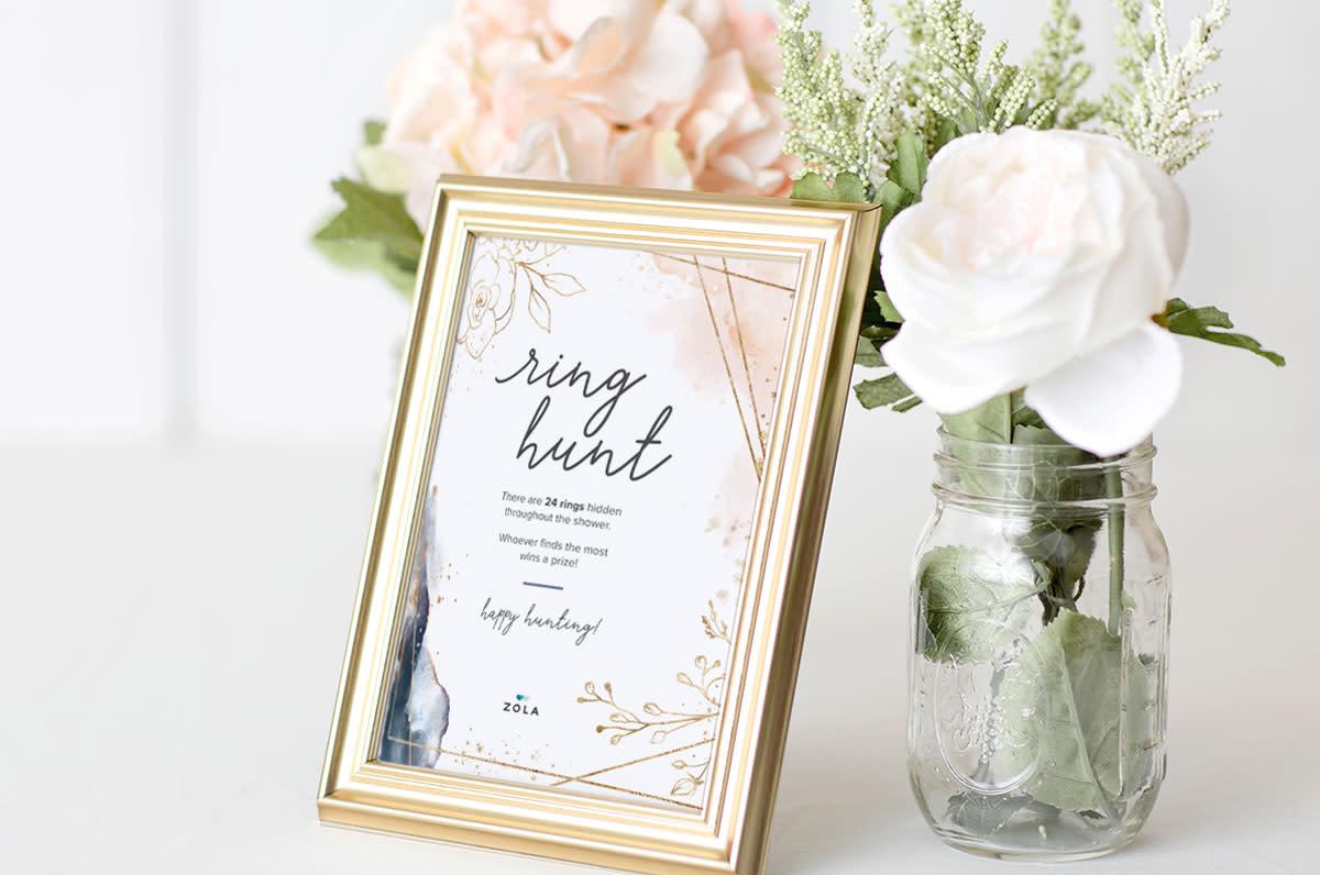 57 Free Bridal Shower Printables To Celebrate The Bride Zola