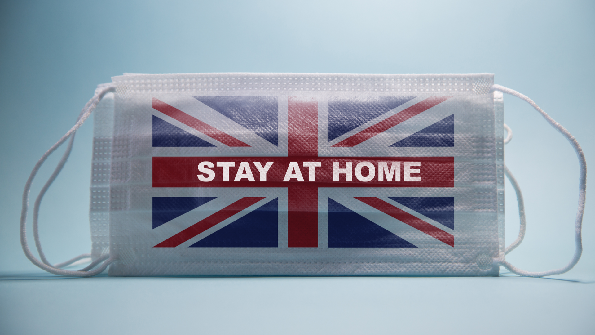 Stay at home COVID 19 UK Mask