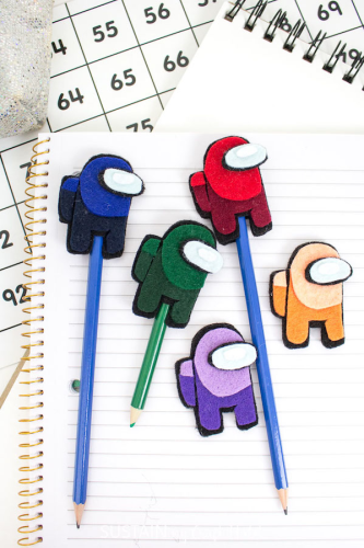 Among Us Felt Pencil Toppers