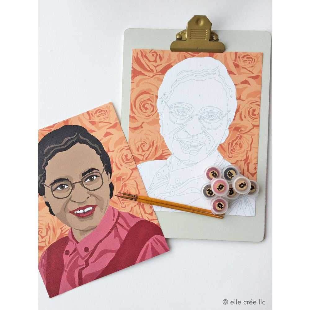 Elle Cree Rosa Parks Paint by Number
