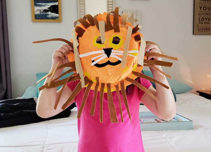 Lion King Paper Plate Mask
