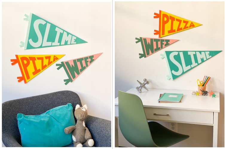 DIY Wall Pennants