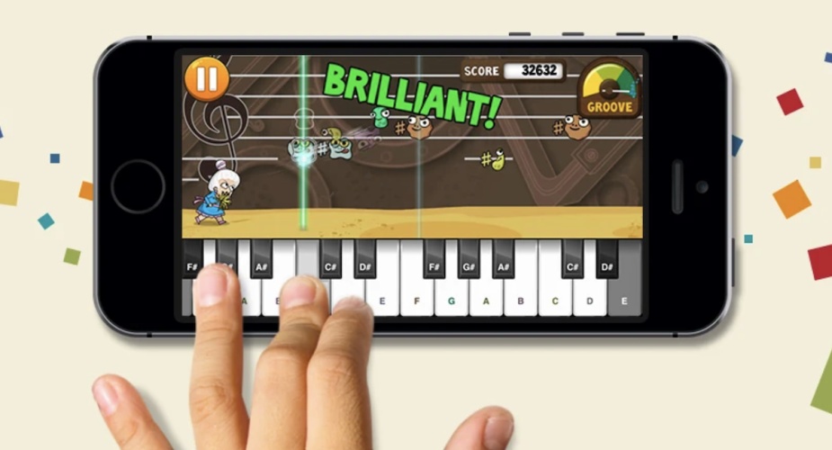 Piano Dust Buster music apps for kids