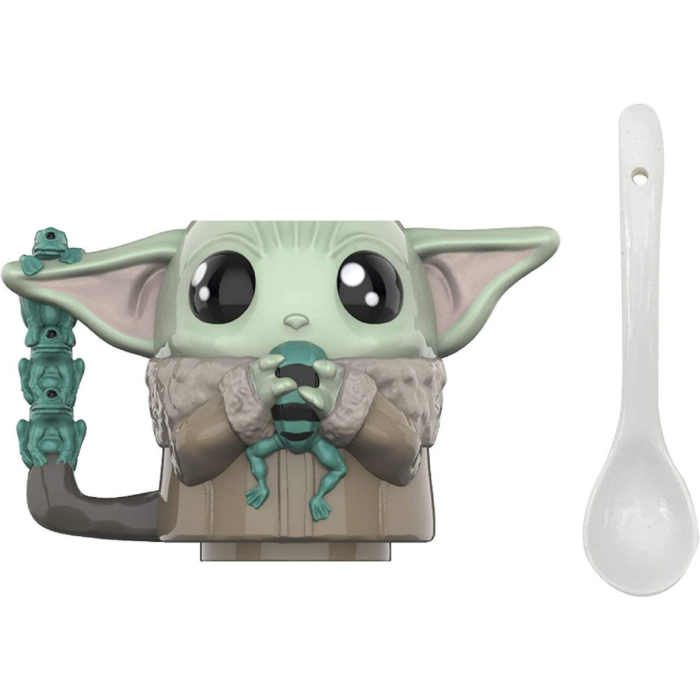 Zak Designs Star Wars The Mandalorian Sculpted Ceramic Coffee Mug with Spoon : 0