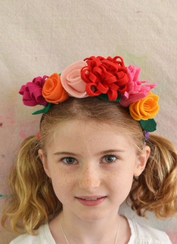 Frida Kahlo Felt Flower Headband