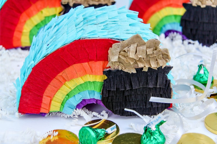 handmade-rainbow-st-patricks-day-pinata
