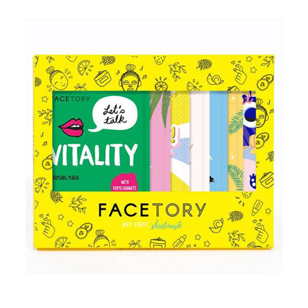 facetory-seven-days-of-masking-sheet-face-mask-set-in-packaging