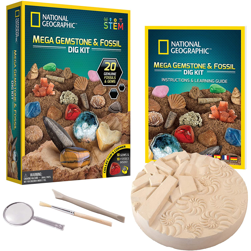 National Geographic Mega Fossil and Gemstone Dig Kits: 0