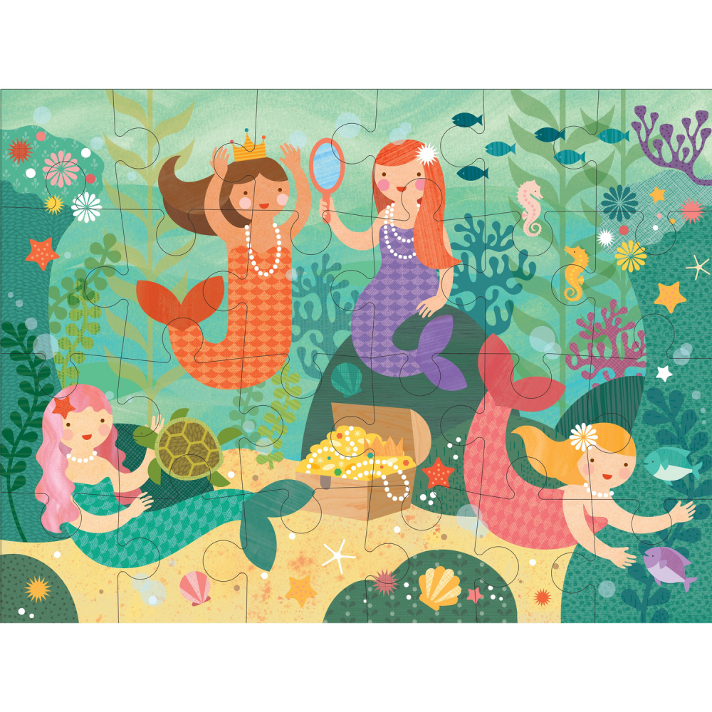 Petit Collage Mermaid Friends Floor Puzzle: 0