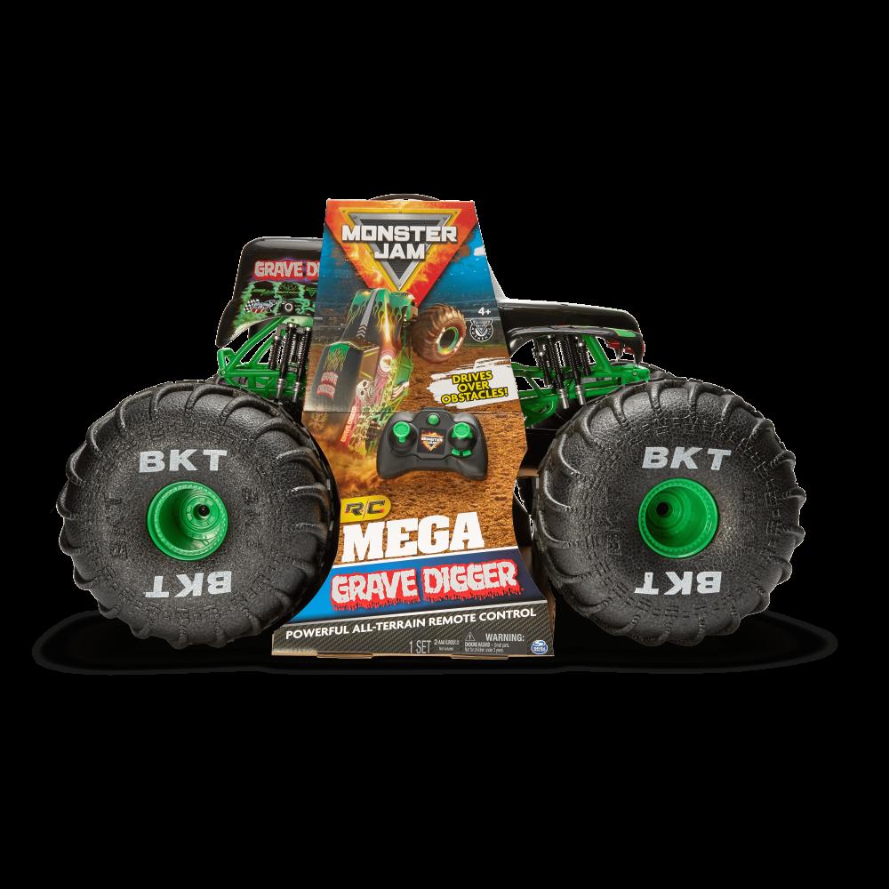 Spin Master Monster Jam Mega Grave Digger R C Truck Camp