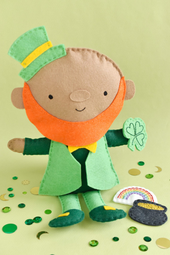 FeltLeprechaunDoll St. Patrick's Day crafts
