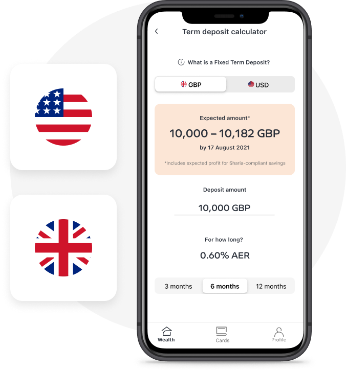 GBP and USD options available
