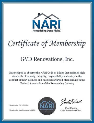 Member of The National Association of the Remodeling Industry