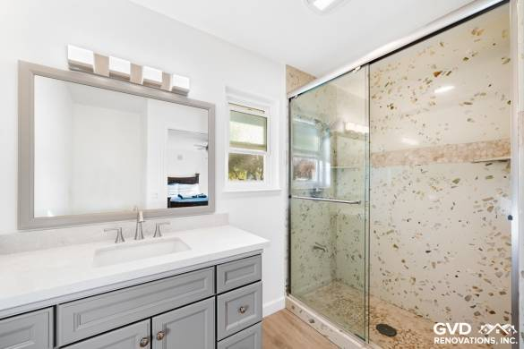 Two Bathrooms Remodeled