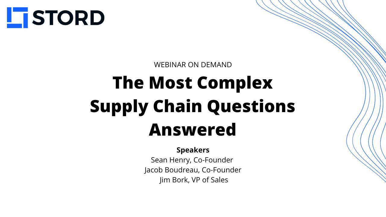We Answered Your Most Complex Supply Chain Problems