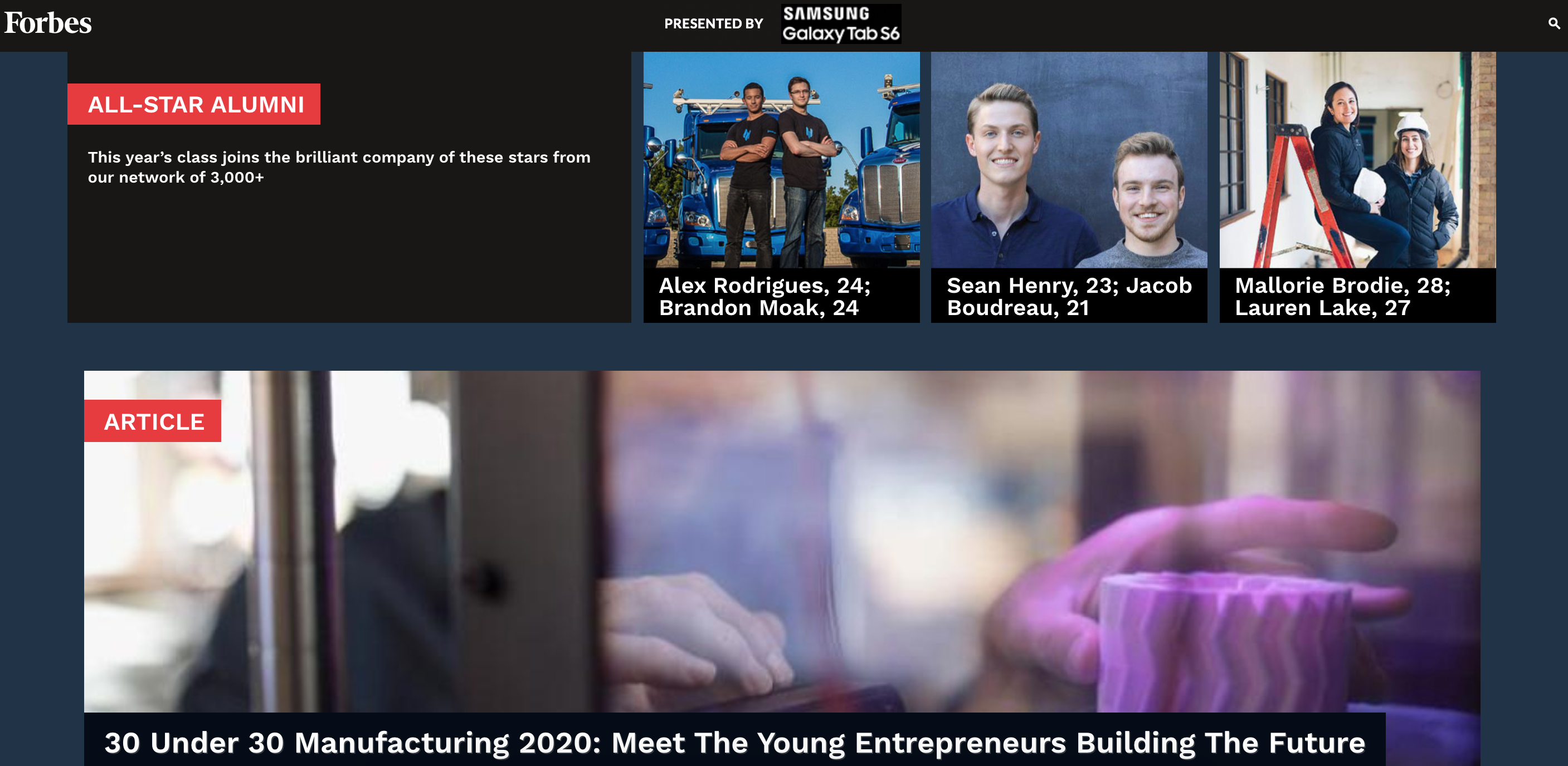 STORD Founders Named All-Star Alumni in Forbes's 30 Under 30 2020